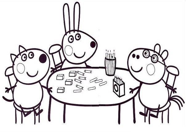 Игры свинка пеппа раскраски играть онлайн бесплатно